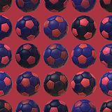 Pink Blue Soccer Balls  Seamless Texture Background