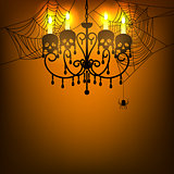 chandelier and spiderweb
