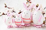 Easter rabbit egg decoration