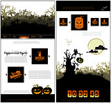 Halloween one page design template