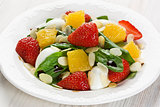 Spinach strawberry orange salad