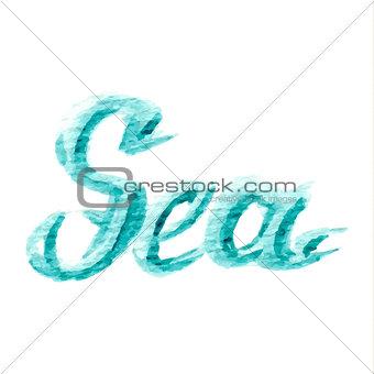 watercolor sea text