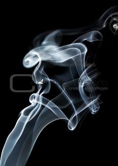 Abstract smoke swirls