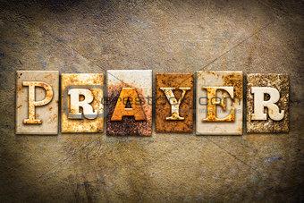 Prayer Concept Letterpress Leather Theme