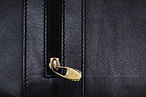 Black folder with zipper