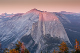 Half Dome from Sentinel Dome, Sunset, Yosemite National Park, CA