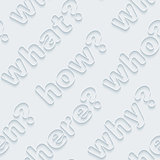 Question words walpaper.
