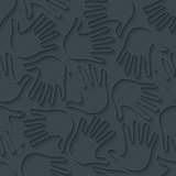 Handprints 3d seamless wallpaper.