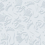 Handprints & footprints 3d seamless wallpaper.