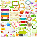 Colorful floral banner jumbo collection