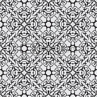 Black seamless pattern