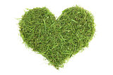 Grass cuttings in a heart shape