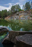 lake surrounded with rocks