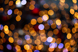 christmas  lights defocused background