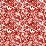 Fun seamless love heart background