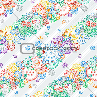 Background with Colored Gears