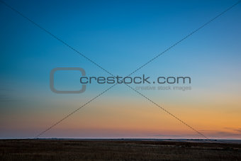 clear sky after sunset in Colorado