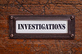 investigations -  file cabinet label