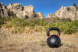 kettlebell outdoor fitness concept