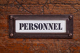personnel - file cabinet label