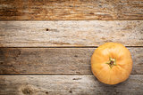 winter squash on barn wood