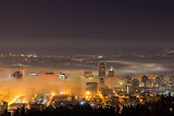 Portland Cityscape in Morning Fog