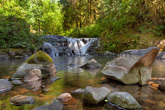 Waterfall along Sweet Creek in Oregon