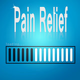 Pain relief blue loading bar