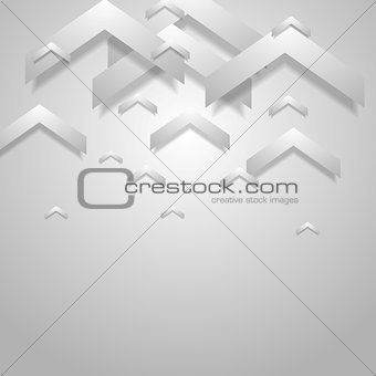 Grey light geometric corporate background with arrows