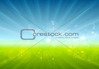 Abstract sunny landscape vector background