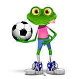 Frog soccer player
