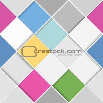 Flat seamless diagonal squares
