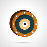 Wheel disk flat vector icon