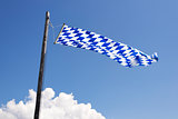 Waving Bavarian flag