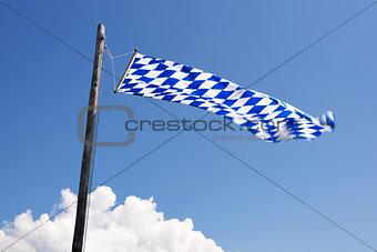 Waving Bavarian flag