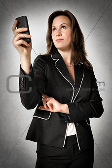 Business woman with smartphone