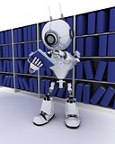 Robot at bookshelf