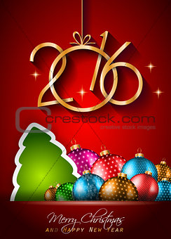 2016 Happy New Year Background for your Christmas Flyers