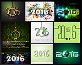 2016 Happy New Year Background Collection