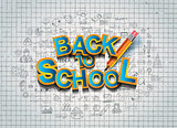 Back to School Background to use for advertiments, as book cover and more