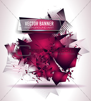 Abstract Background with Shapes Explosion For Cover, Flyers