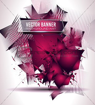 Abstract Background with Shapes Explosion For Cover
