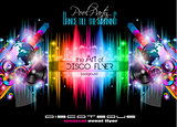 Club Disco Flyer Set with Music Elements and space for text