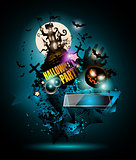 Halloween Night Event Flyer Party template with Space for text