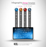 Clean Infographic Layout Template for data and information analysis