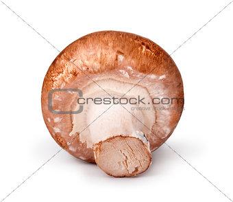 Fresh champignons isolated on white background
