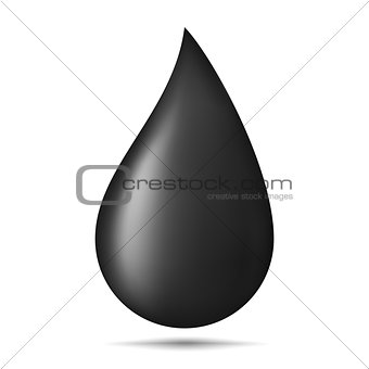 Black Oil Drop