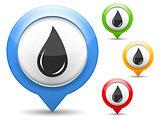 Black Oil Drop Icon