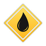 Black Oil Drop Icon
