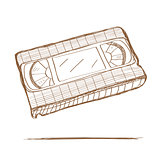 Hand drawn video tape
